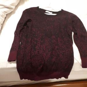 Purple leopard print sweater dress
